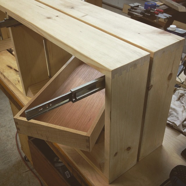 @trfloraldesign just making some drawers for a sweet little bench destined for an entry-landing in fishtown.
