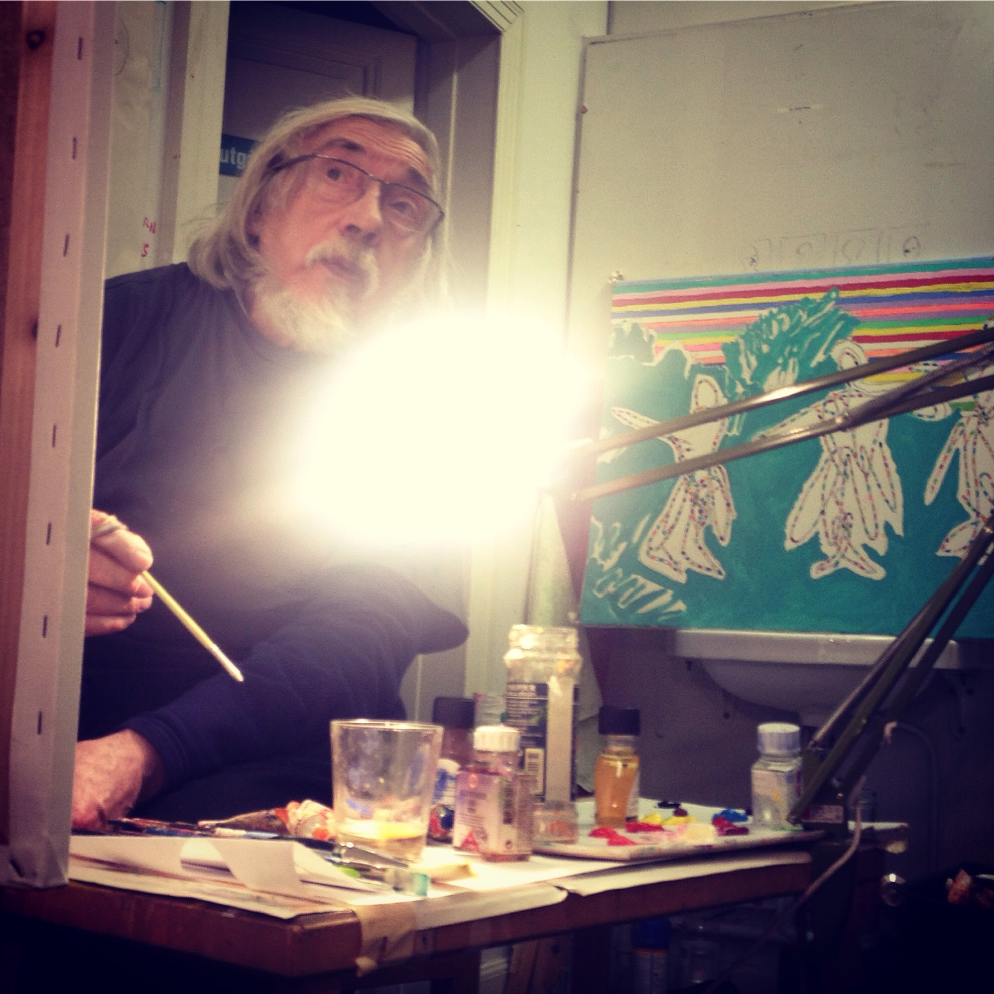 In the studio with Swedish artist Erling Johansson. A 'dynamic impressionist' who has been active in Sarvisvaara, Stockholm and Paris for more than 50 years.