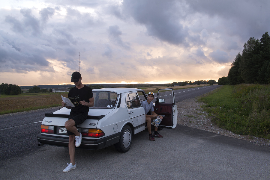 We drove to Minsk in my 1987 Saab 900i. 3-speed automatic gearbox is not exactly ideal for high speed cruising. Instead we kept a comfortable pace and made many stops.