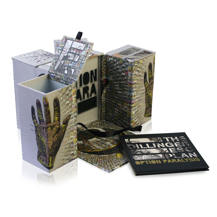The Dillinger Escape box set with merchandise