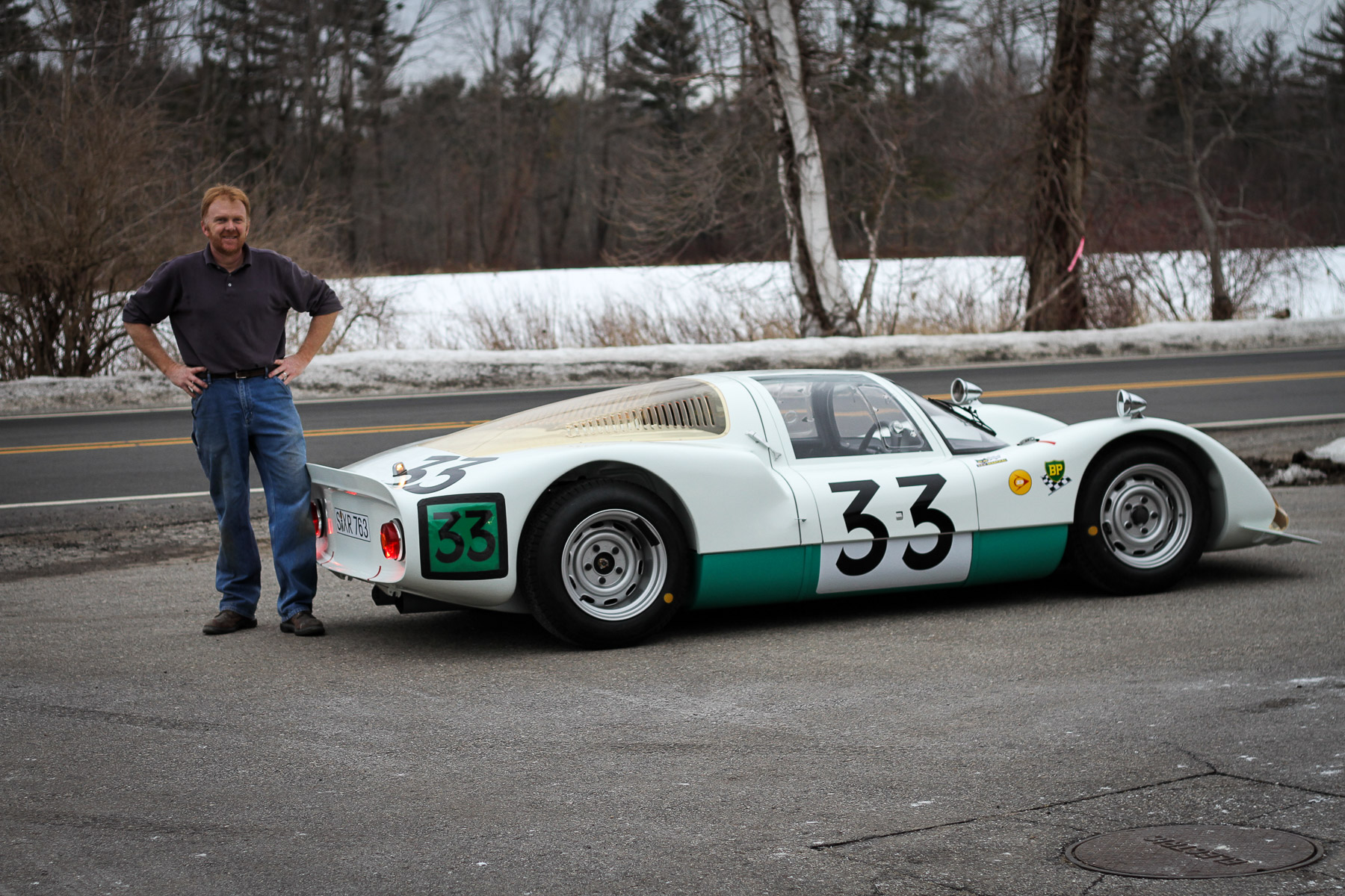 """Our"" Porsche 906 — what an amazing car. It ran the 1966 Le Mans with Peter Gregg at the wheel. We would like to thank our clients for choosing Rare Drive to not only acquire but also restore it with us."
