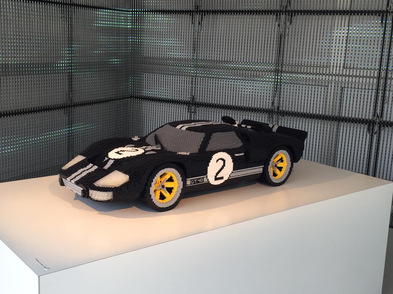 Cool! A giant Lego model of our car!!