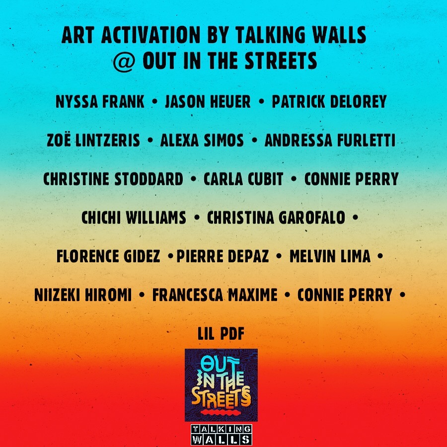 Out In The Streets Music and Art Festival  July 16 + 17.