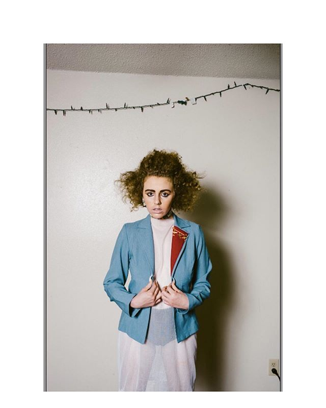 Bailey . . . . . Styled by Dana #portrait #artist #style #blazer #hair #beauty #color #mediumformat #kodak #atx #smtx #fashion