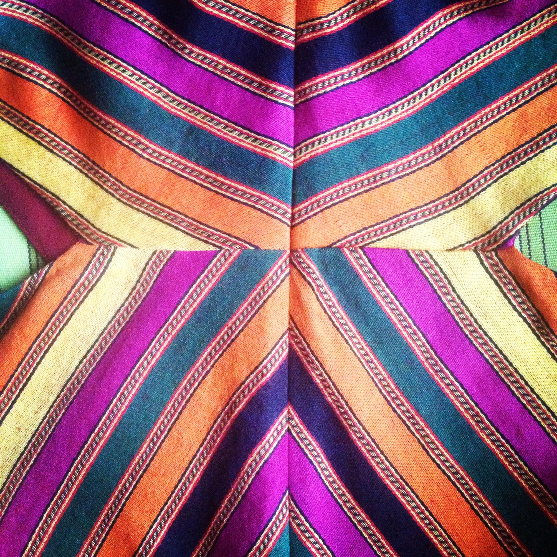 Handloom Silk Stripe Dress