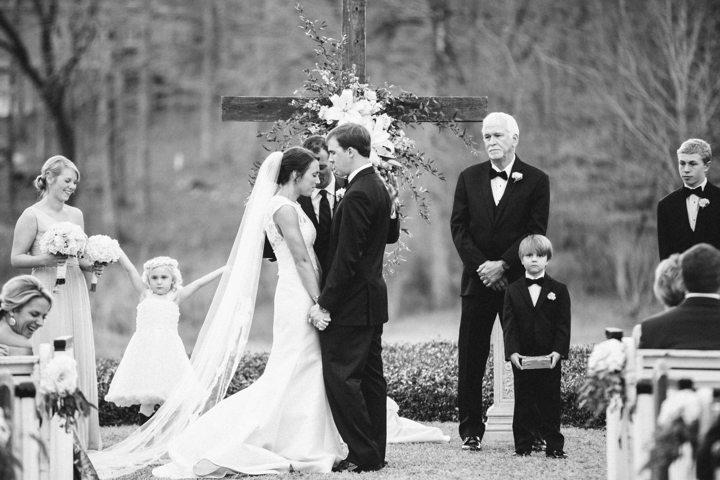 Pews at a Southern Wedding. Photo by Taylor Lord Photography.