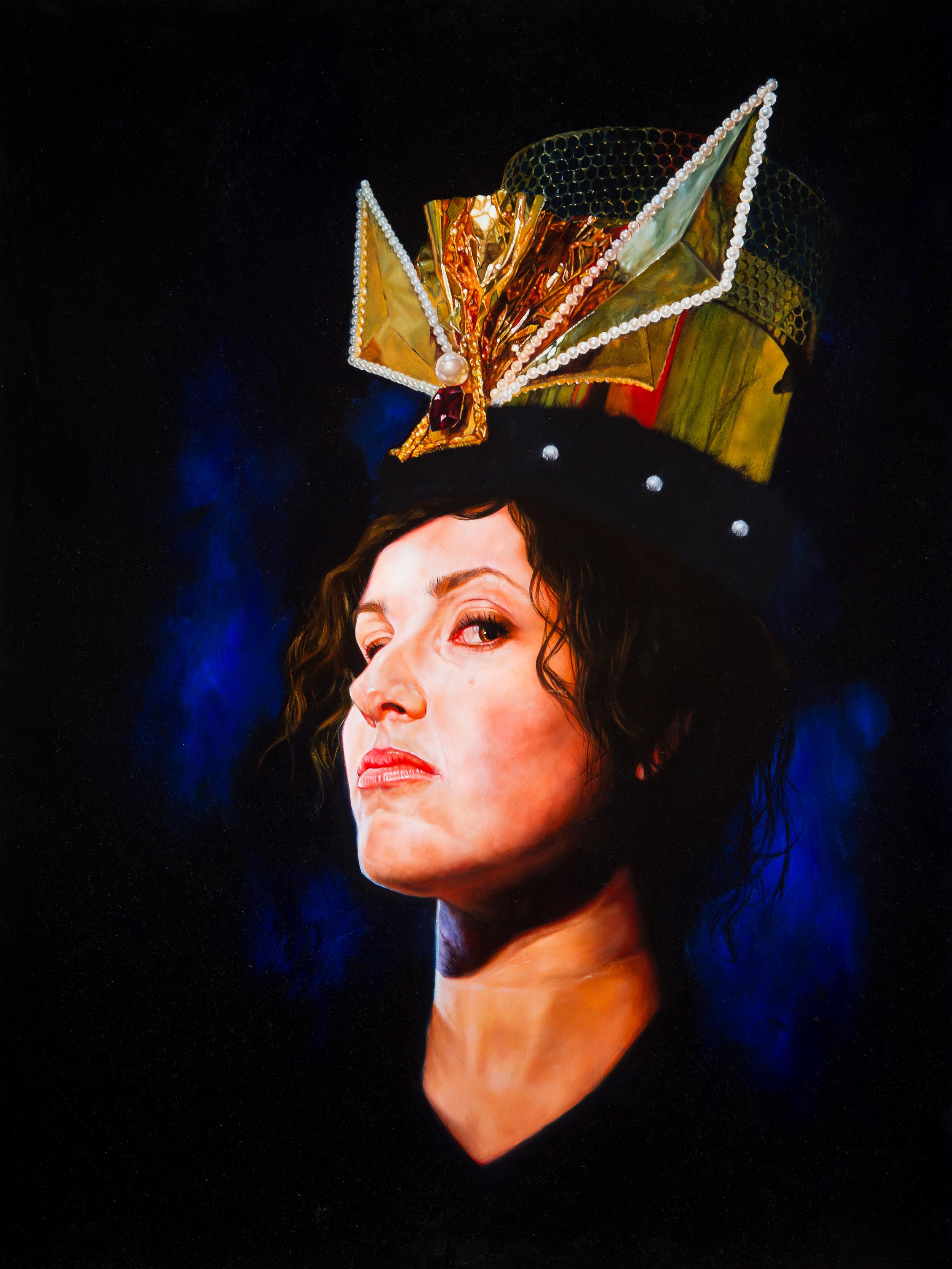 """A Queen"", 61 x 81 cm, Oil on Board"
