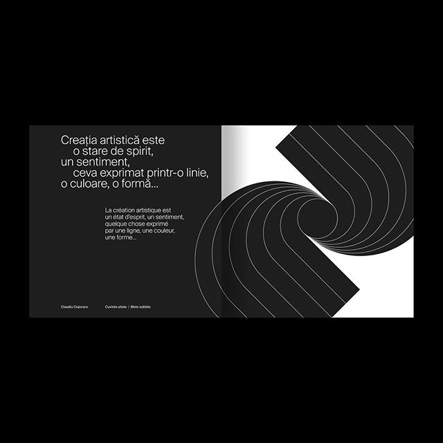 Editorial design for the exhibition booklet of artist Claude Cojocaru. Launch 07.12.18 | National Museum of Romanian Literature, Bucharest (RO)  @info.mnlr  #graphicdesign #swissgraphicdesign #swisstypefaces