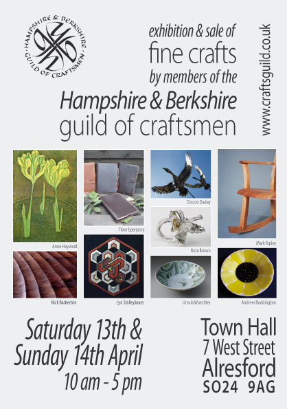 Flyer for Hampshire and Berkshire Guild Exhibition in Alresford 2013