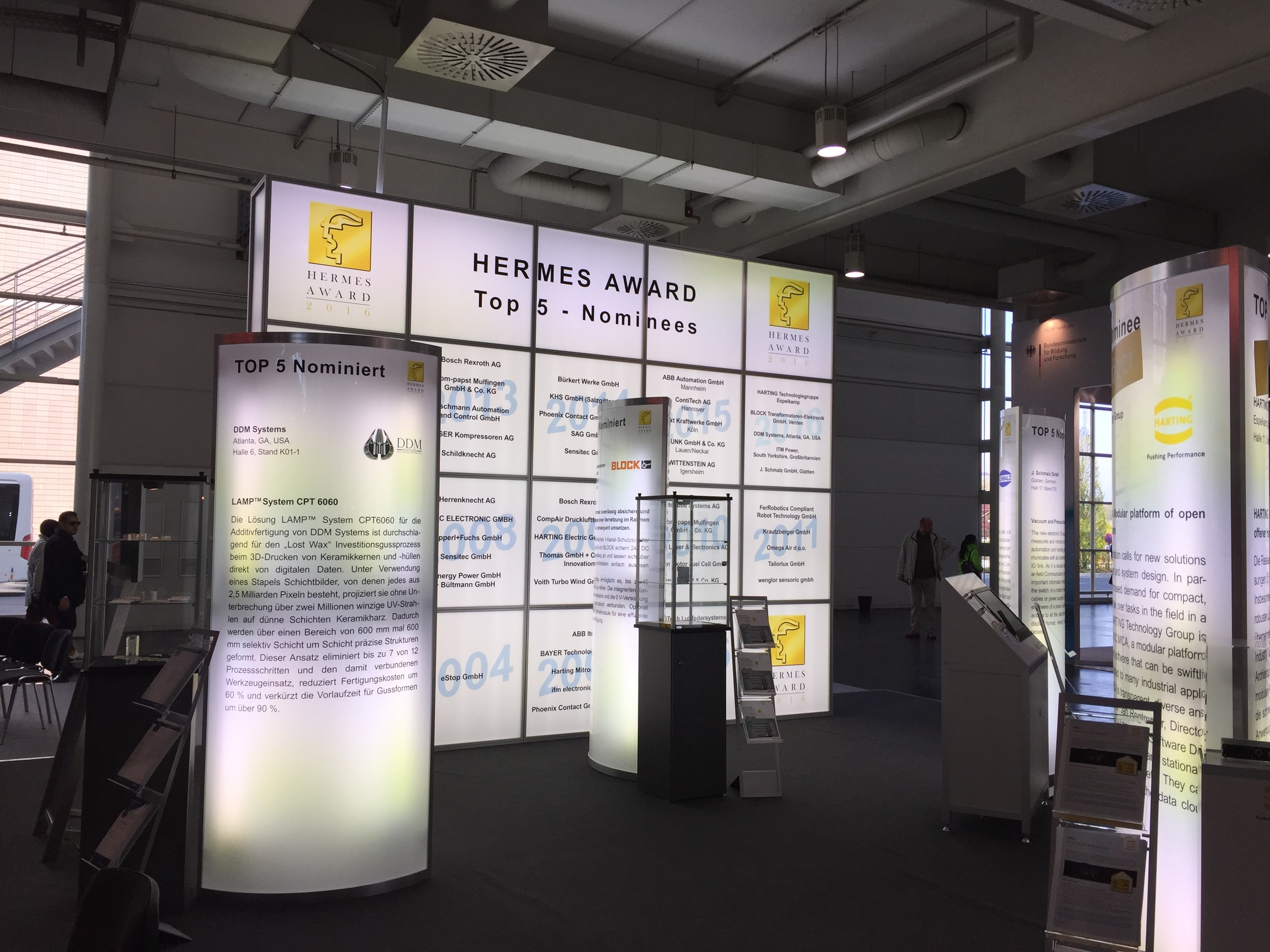 HERMES Award Exhibit Area in Pavilion 3 of the 2016 Hannover Messe