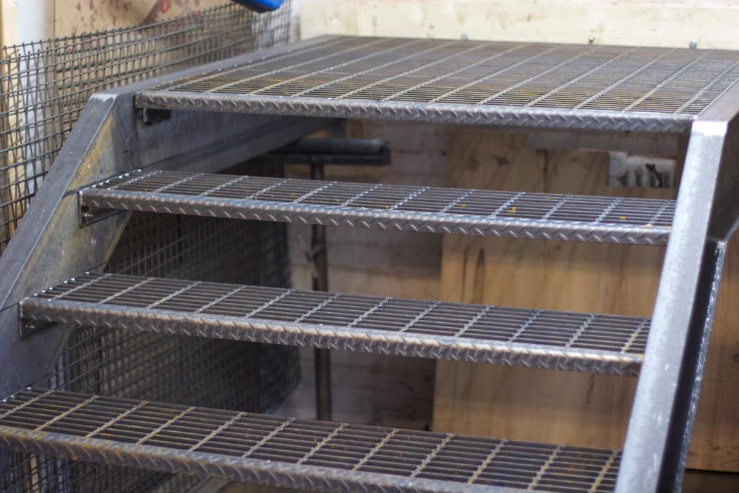 Exterior Residential Stair Punchclock Metalworks