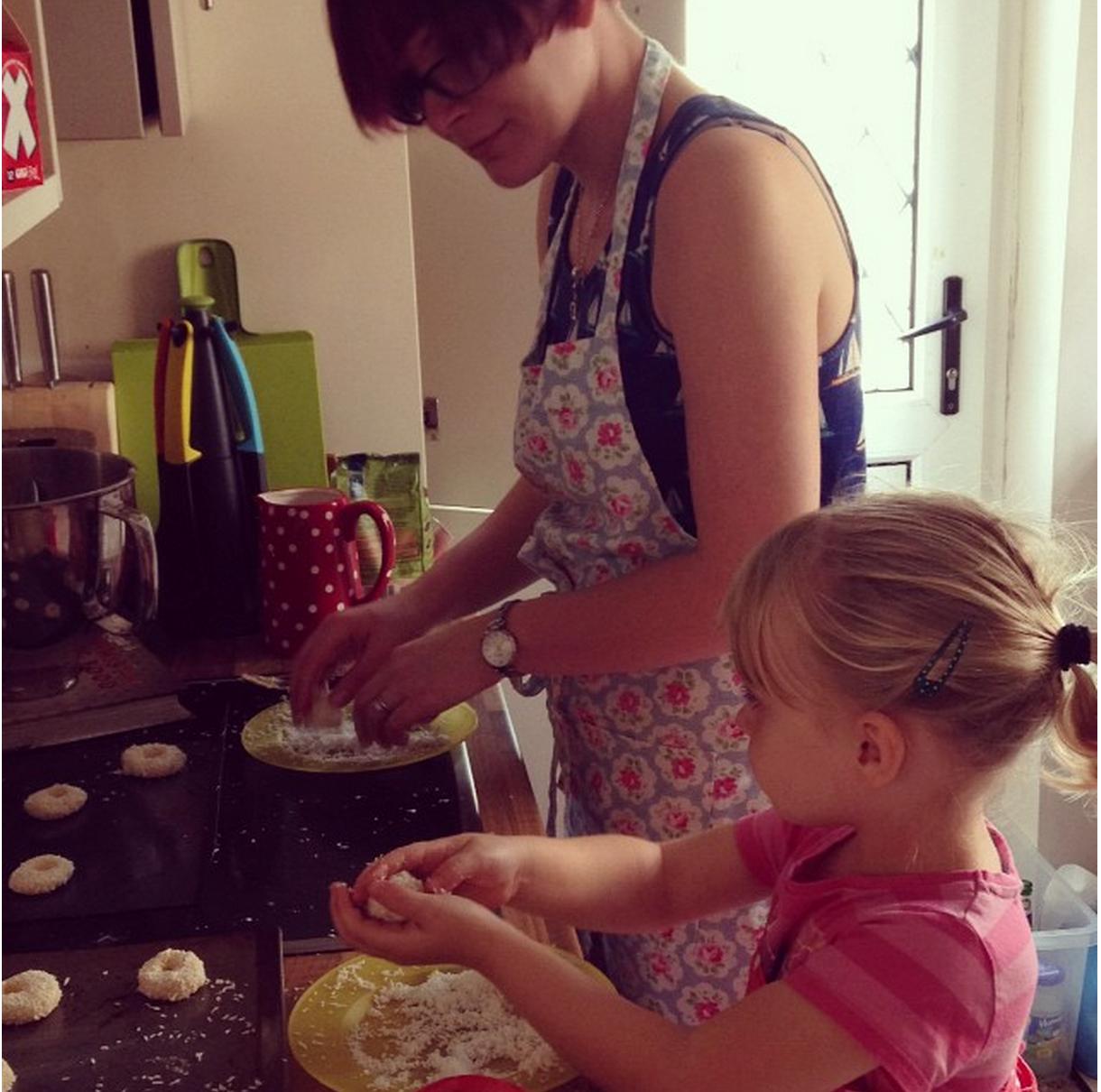 Cozinhando com crianças no Instagram