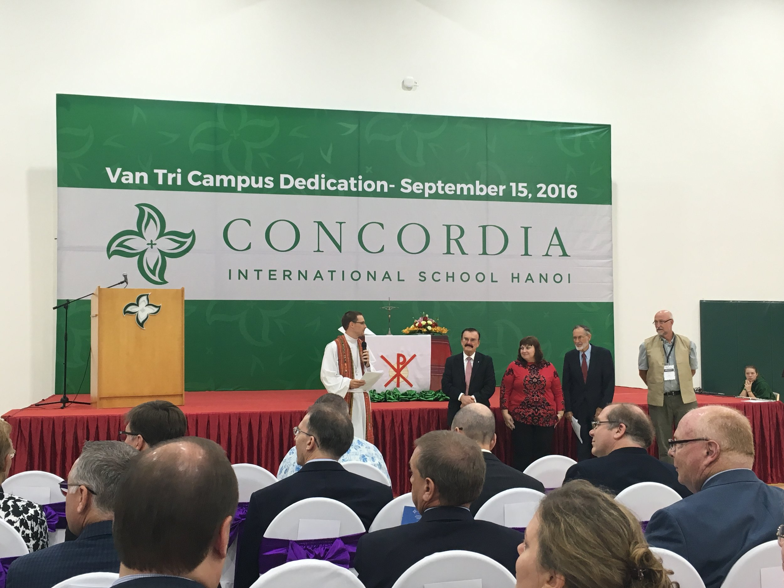 Dedication of new campus at Concordia International School Hanoi