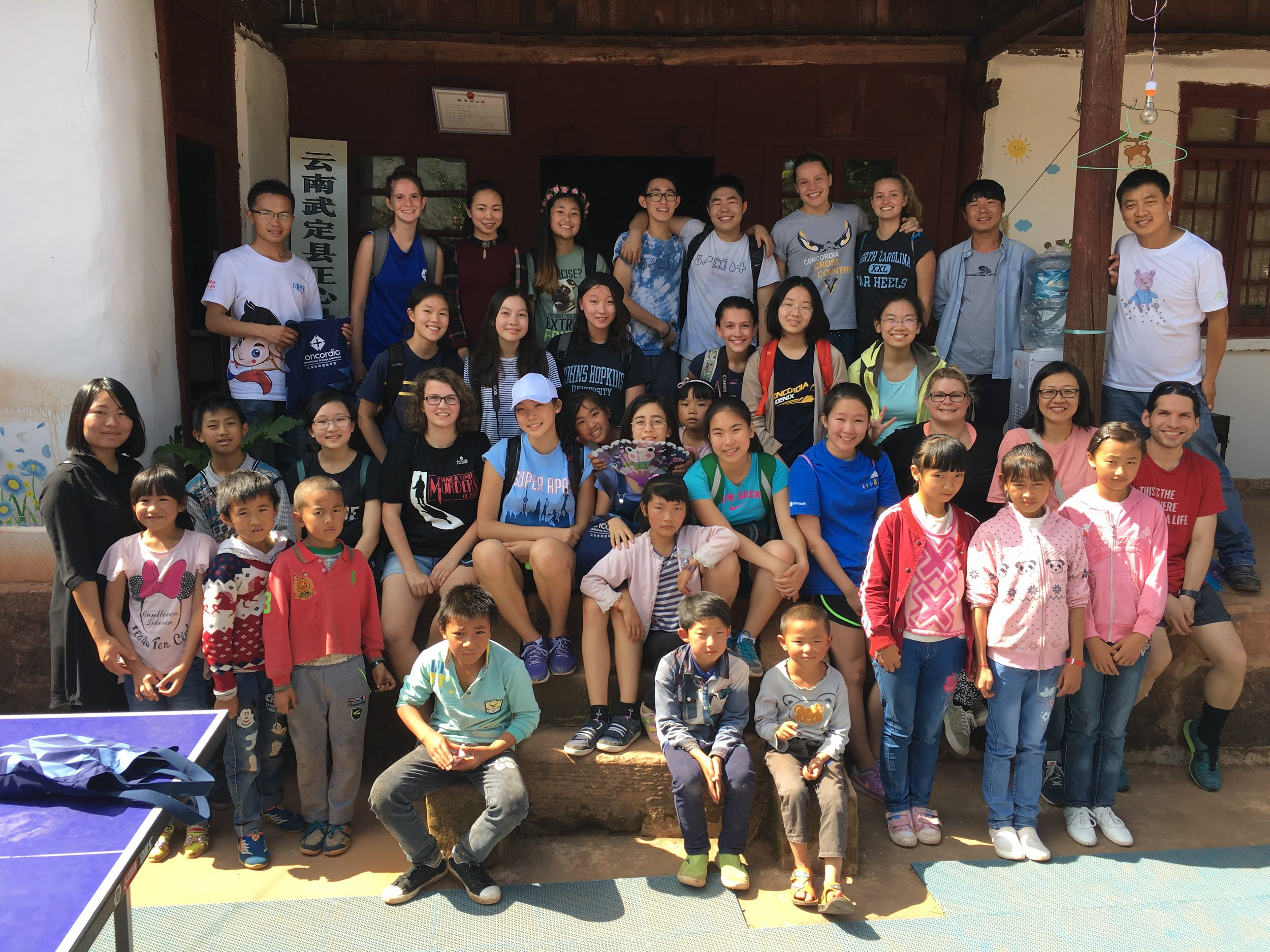 With CISS team at Zhengxin community center in rural Yunnan