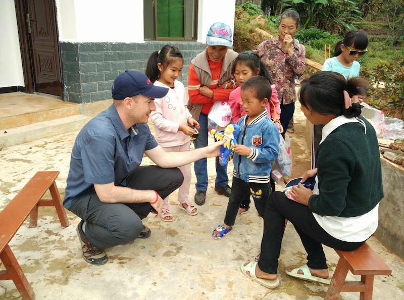 With kids in Yunnan during Concordia Int'l School Shanghai service trip