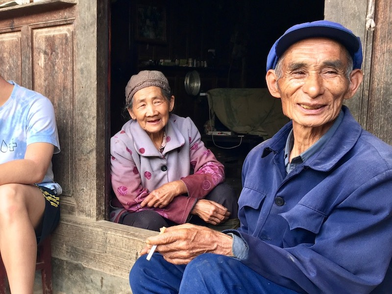 A lovely older couple we visited during a service trip in Yunnan