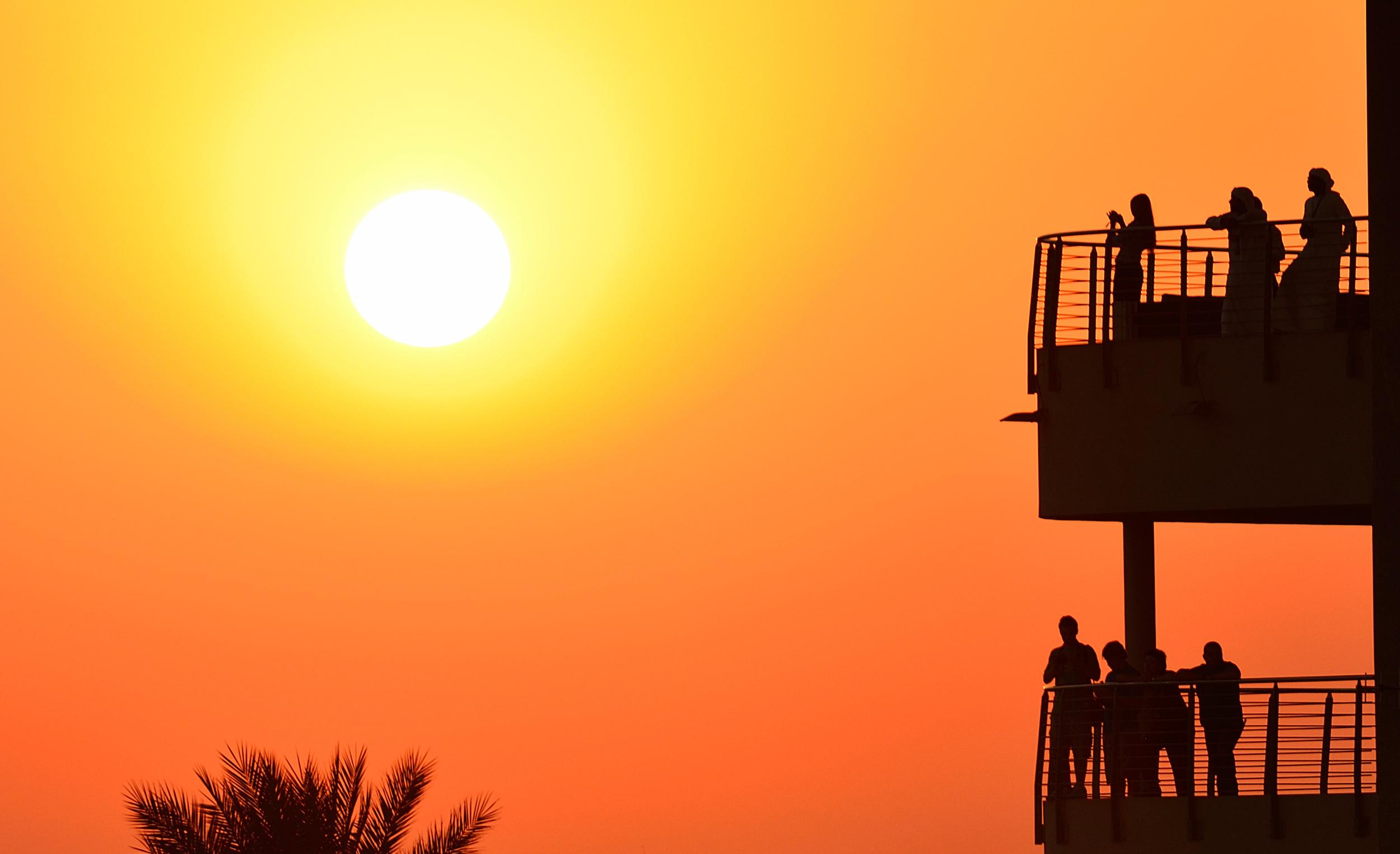 View from The North Grandstand at F1 Etihad Airways Abu Dhabi Grand Prix 2012 at Yas Marina.