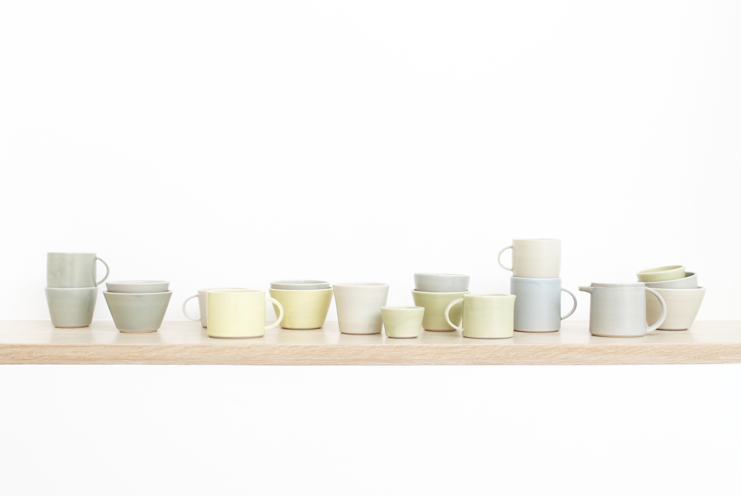Tableware for Guldagergaard International ceramic research centre, Denmark in 2013. As part of a residency programme '100 plates'.