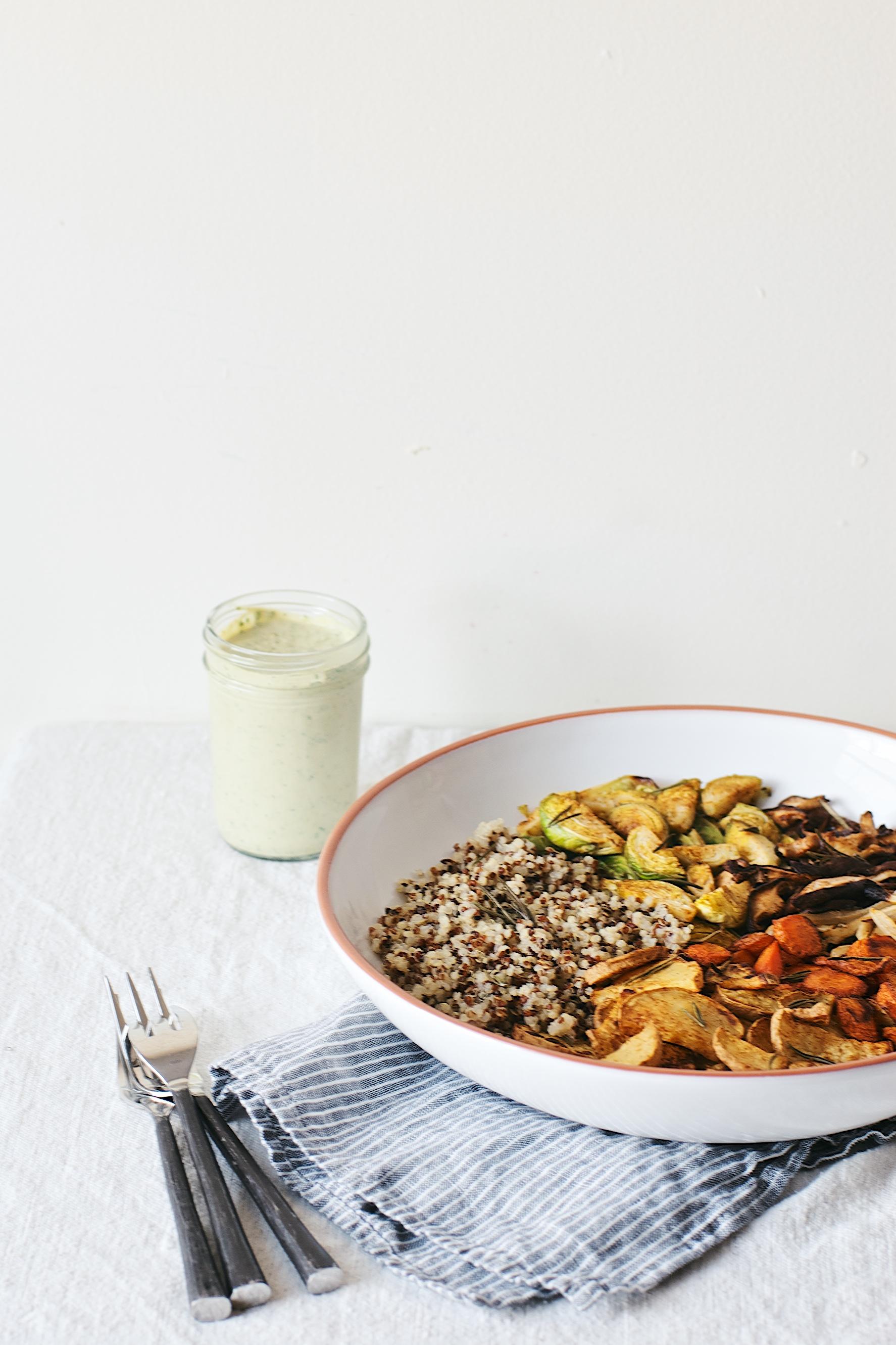 herb roasted veggie bowl