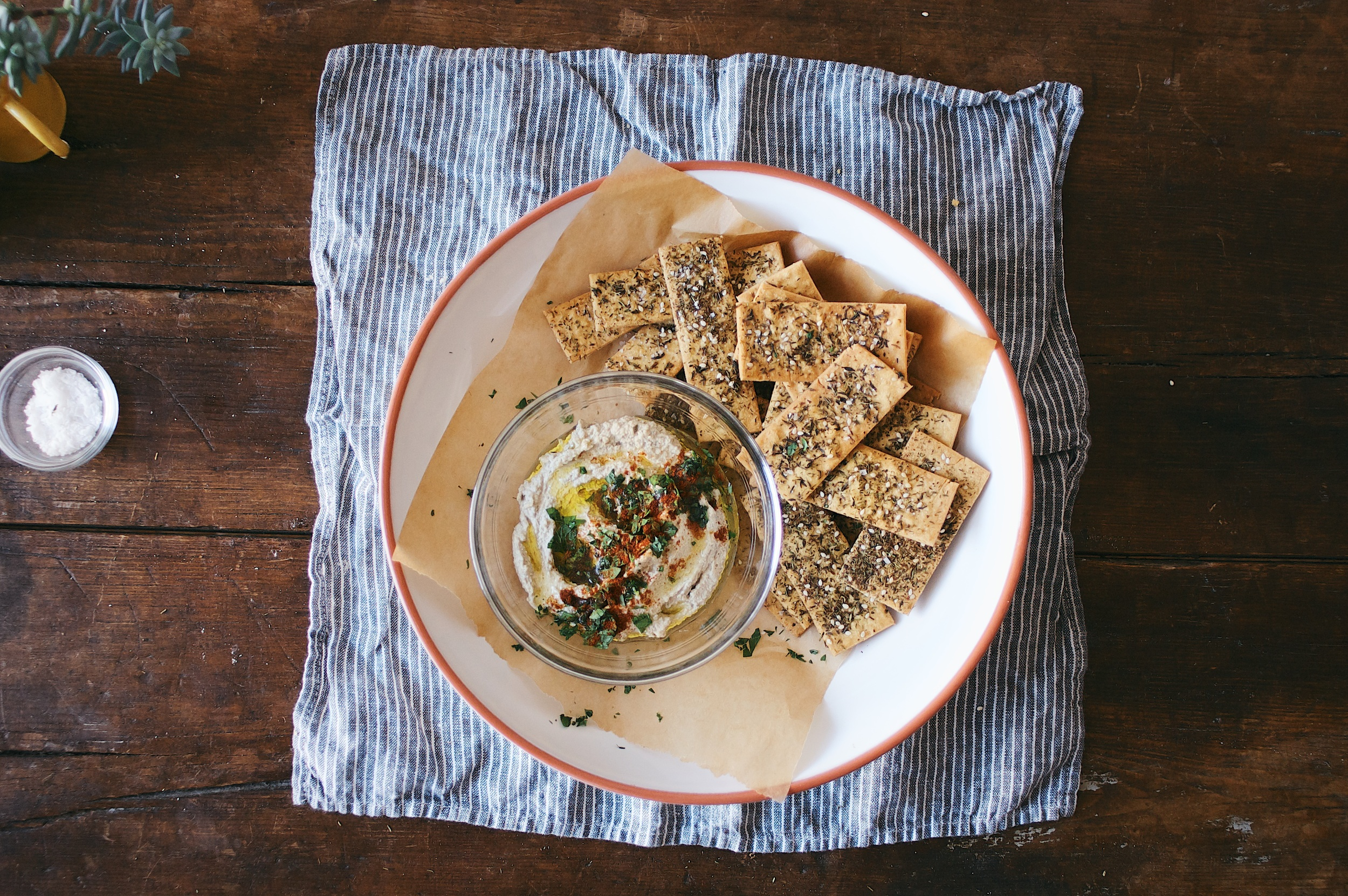 Za'atar Spiced Chickpea Crackers