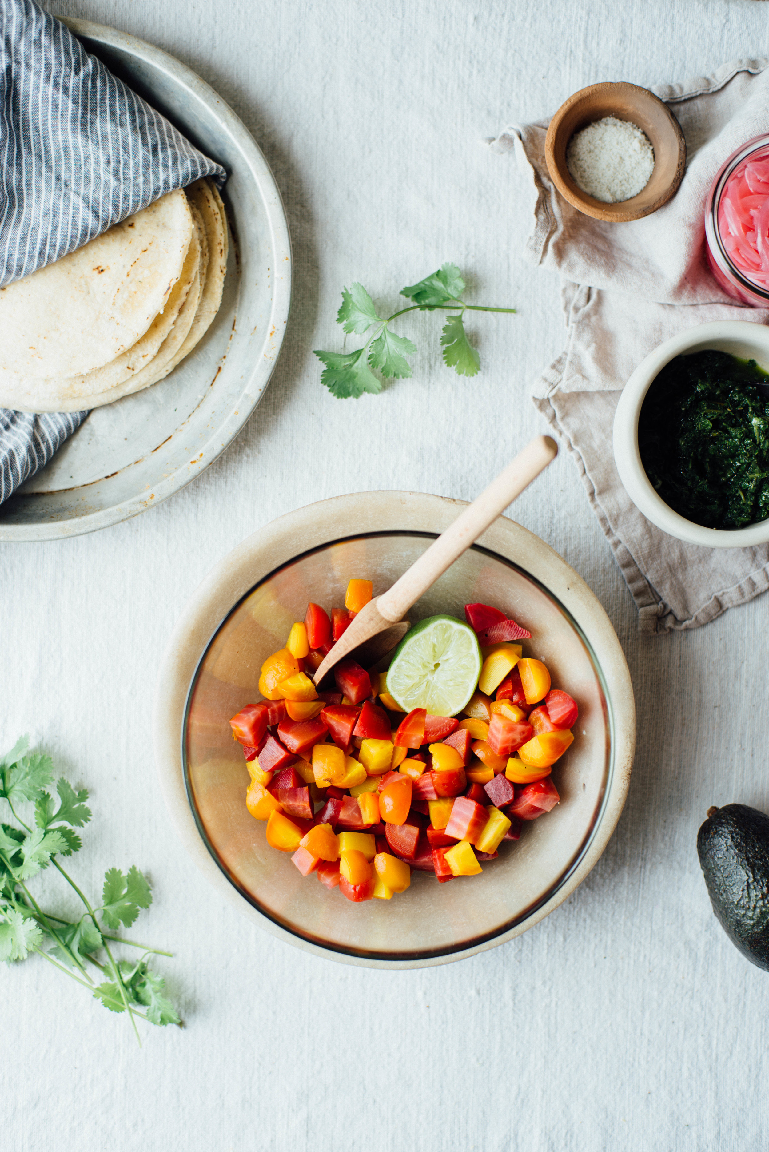 beet tacos w/ beet green salsa verde | dolly and oatmeal