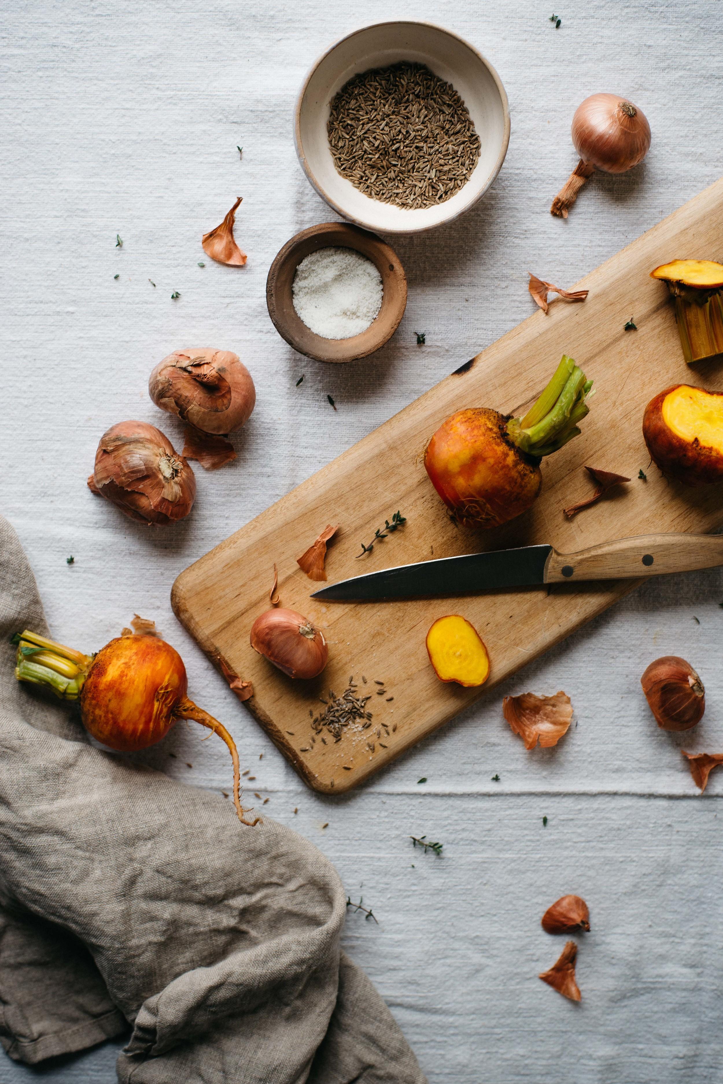 roasted golden beet + shallot dip