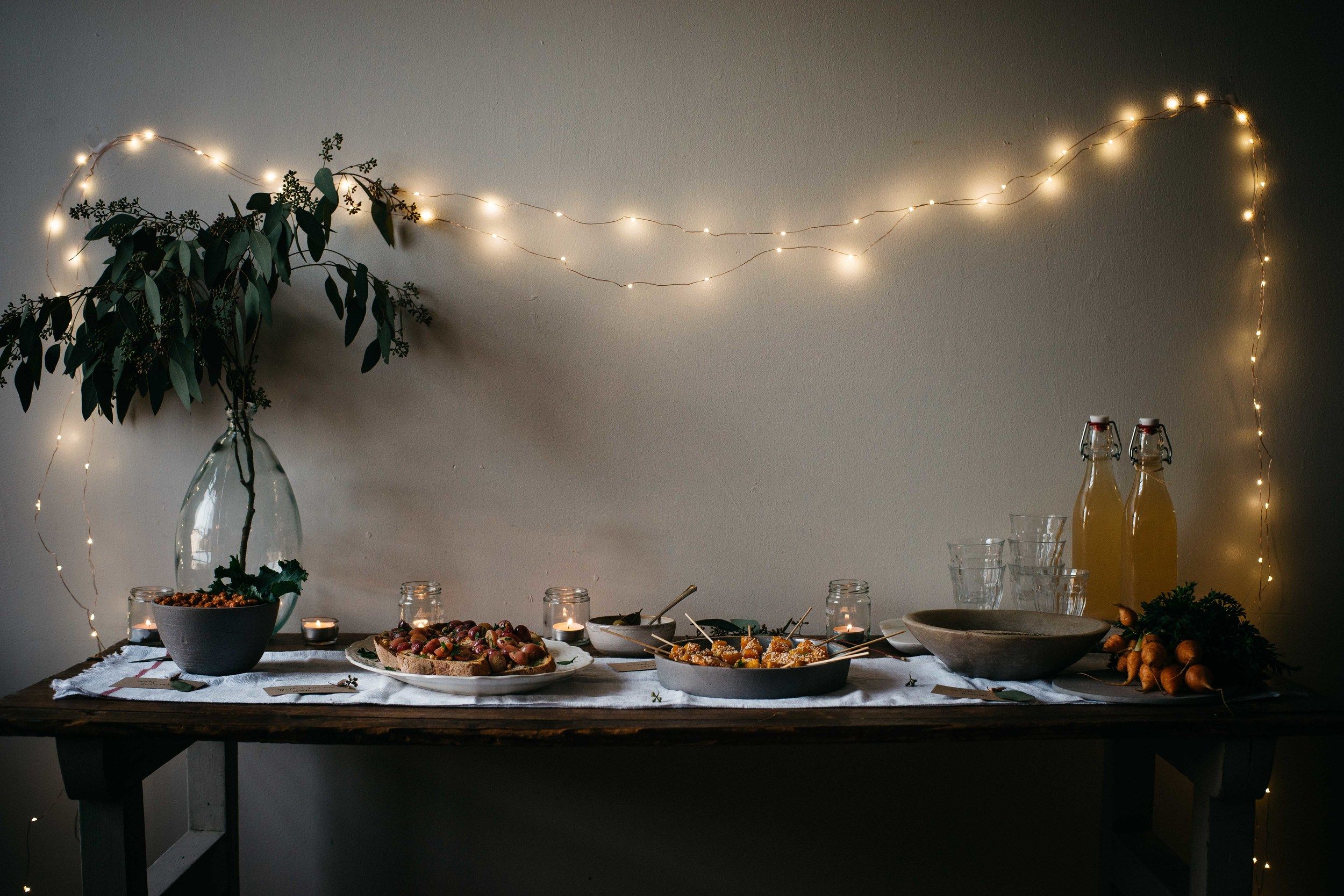 weeknight holiday party for gardenista | dolly and oatmeal