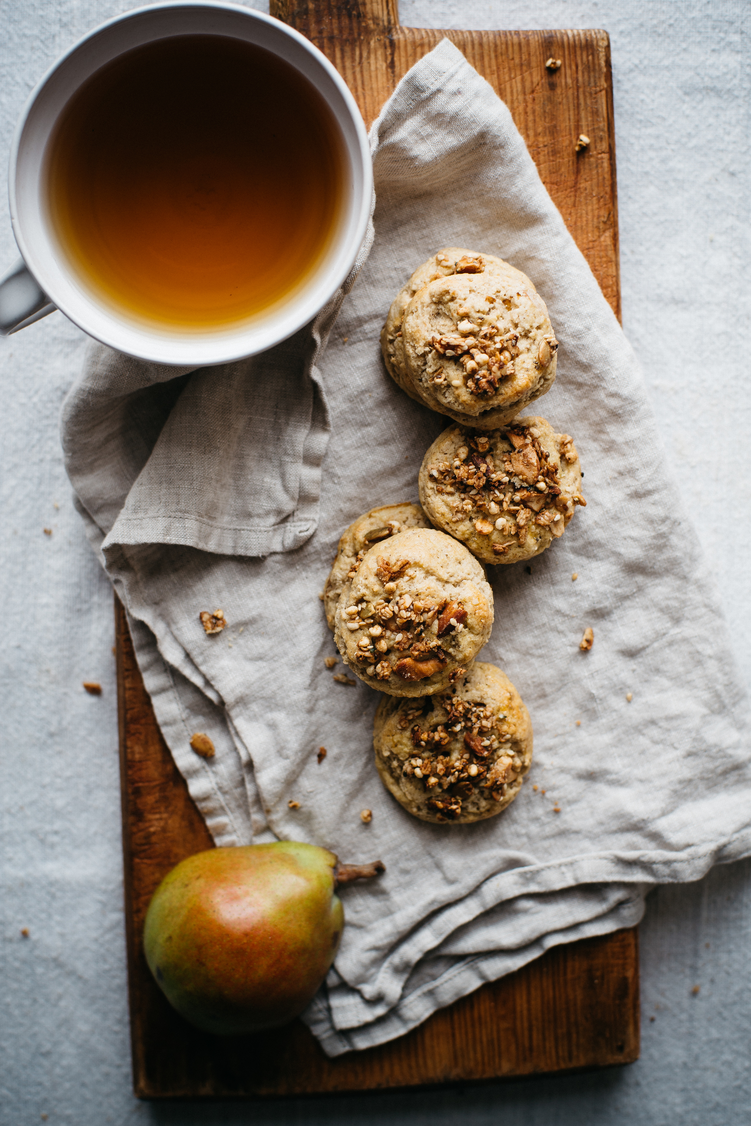 (mini) granola + pear scones | dolly and oatmeal