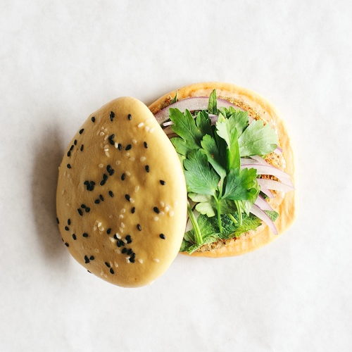 mung bean keel burgers w/ chili mayo