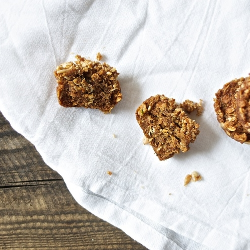 toasted oat + baby zucchini muffins
