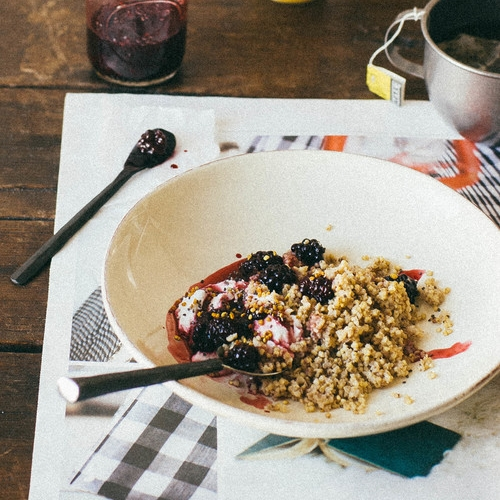 cardamon-millet breakfast bowl