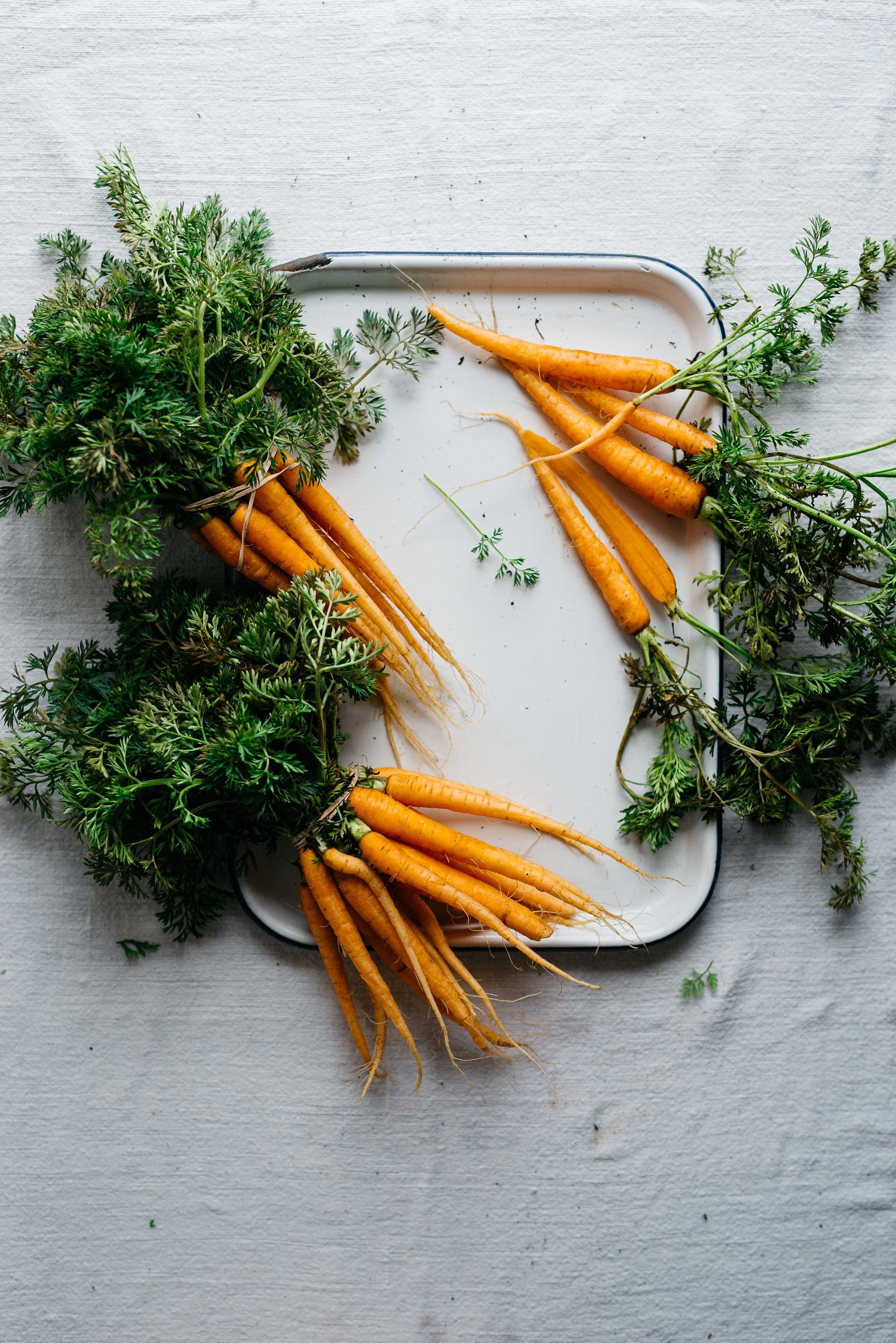 garlic-spiced market carrots w/ yogurt sauce   dolly and oatmeal