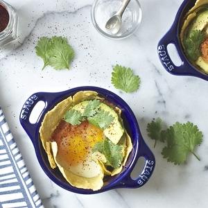 baked eggs w/ cuban sofrito