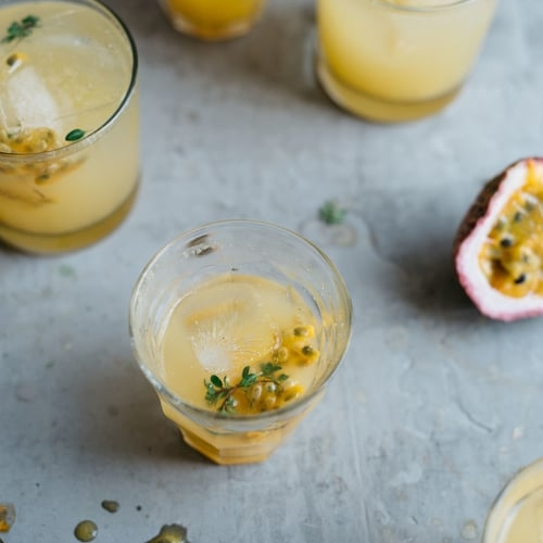 passion fruit & lemon-ginger kombucha