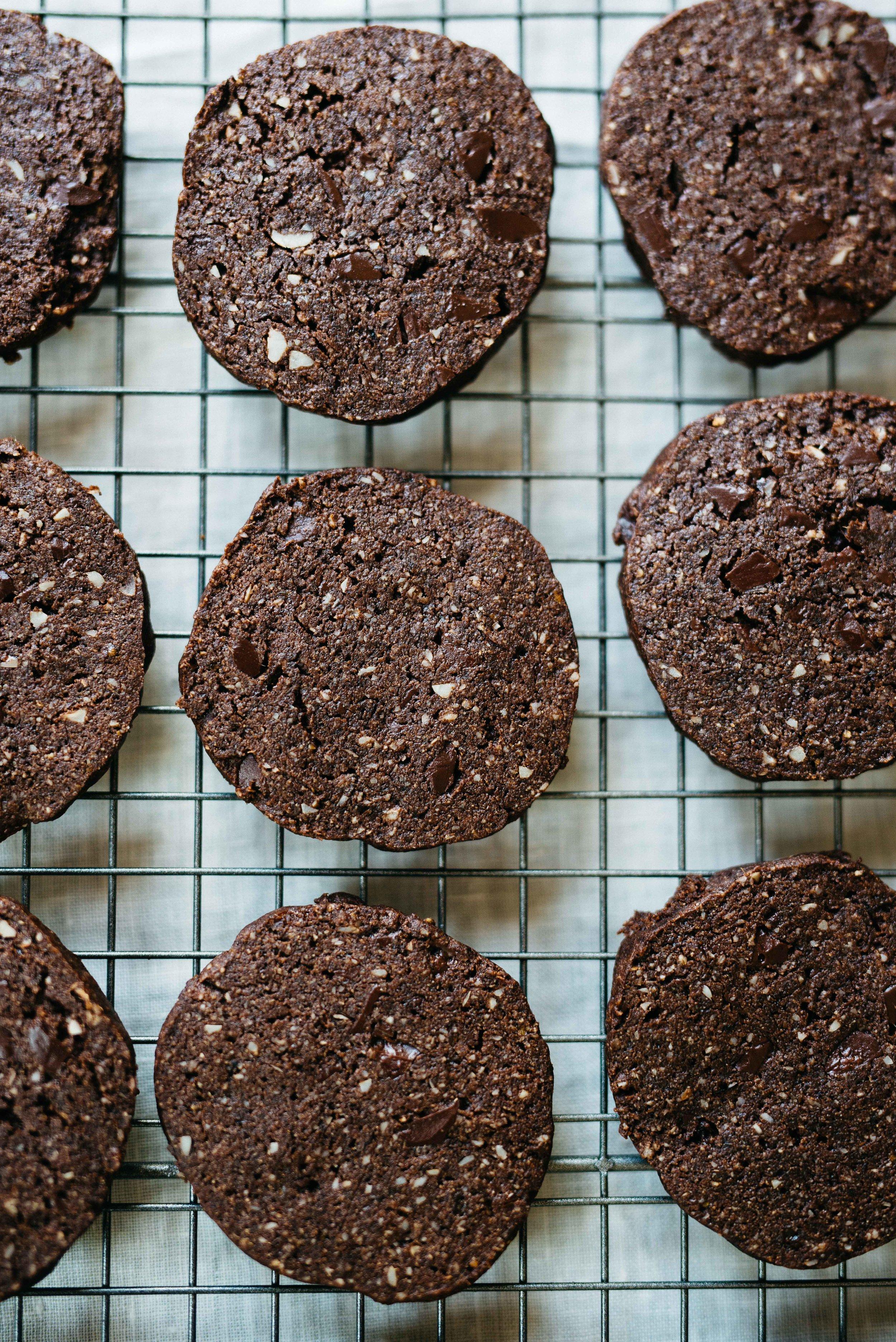 Chocolate Freeze 'N' Slice Cookies & Coconut Caramel Sundaes