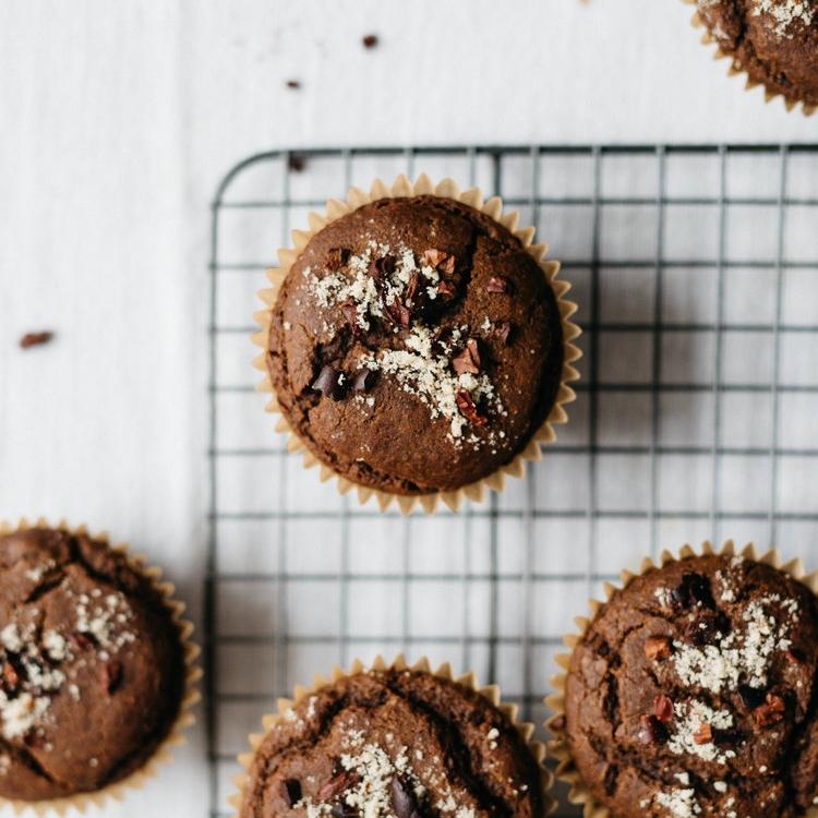 dark chocolate kabocha squash muffins