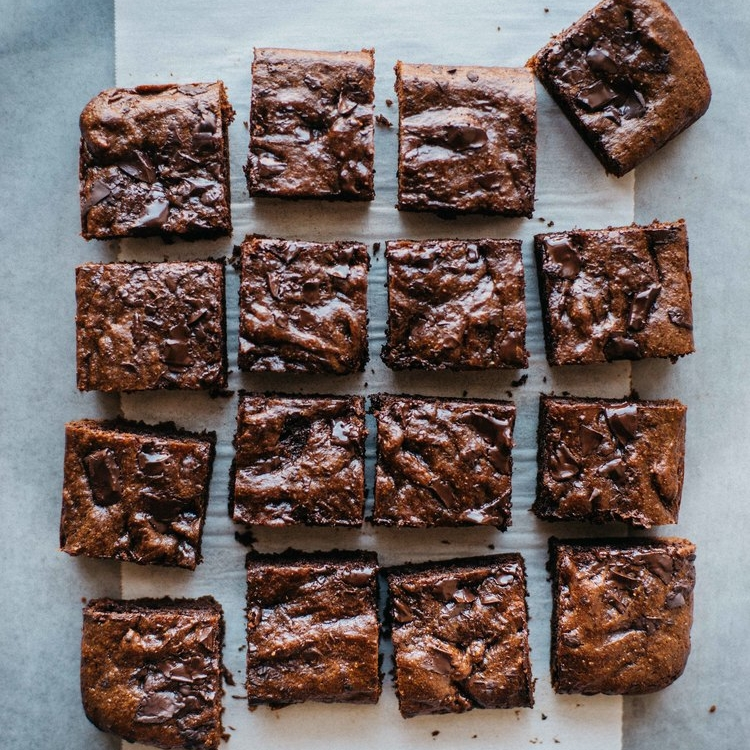 hazelnut butter brownies