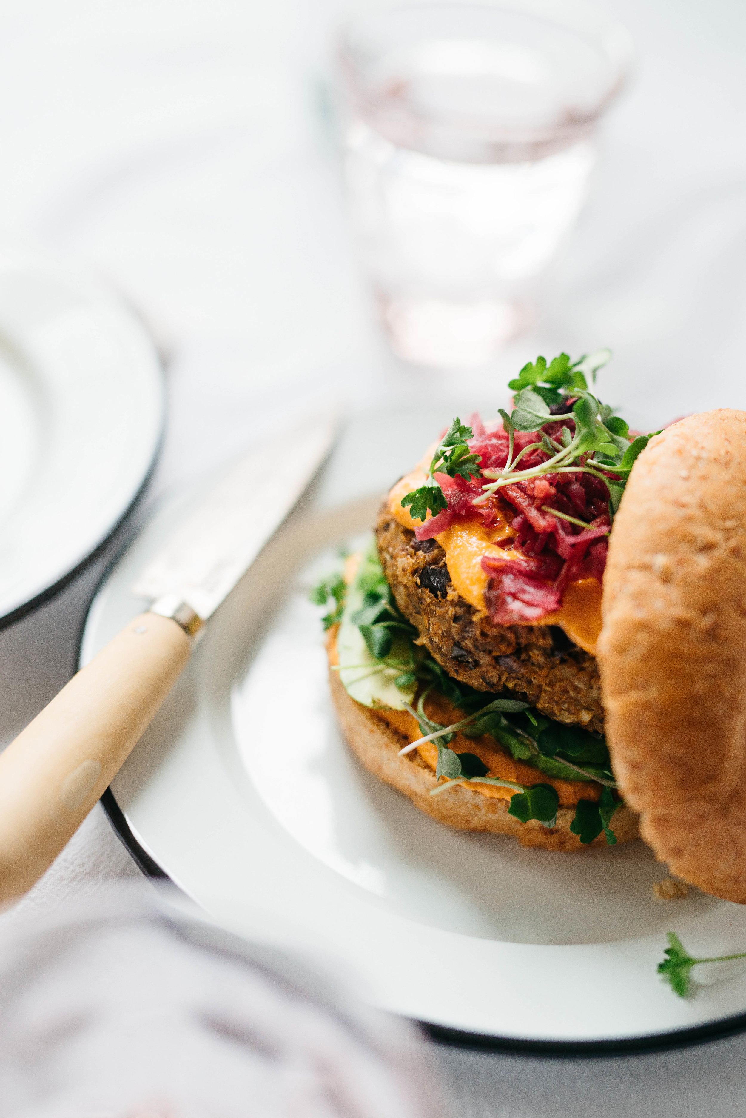 "Kasbah Burger from ""Veggie Burger Atelier"" 