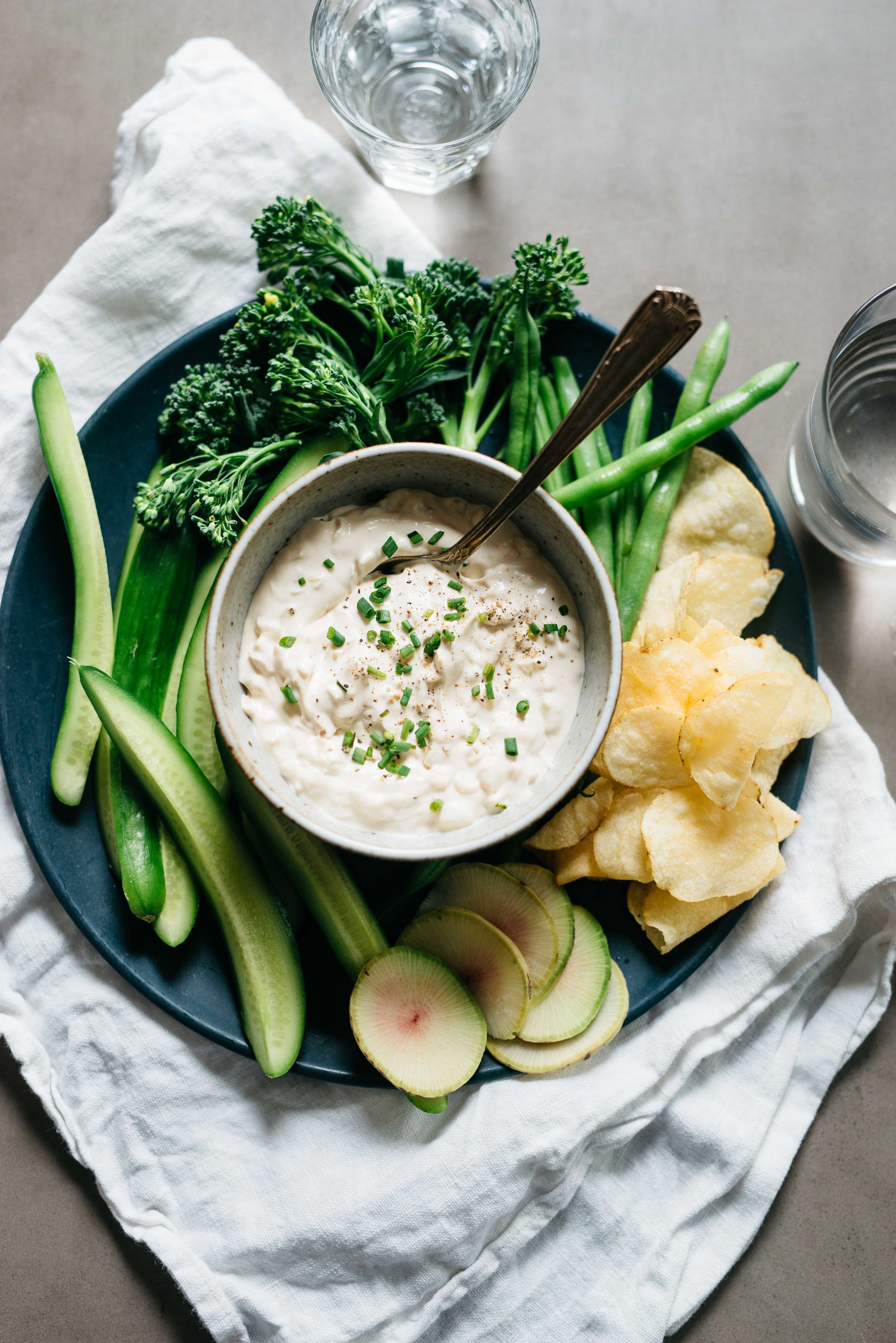 A Spring Onion Dip! | Dolly and Oatmeal