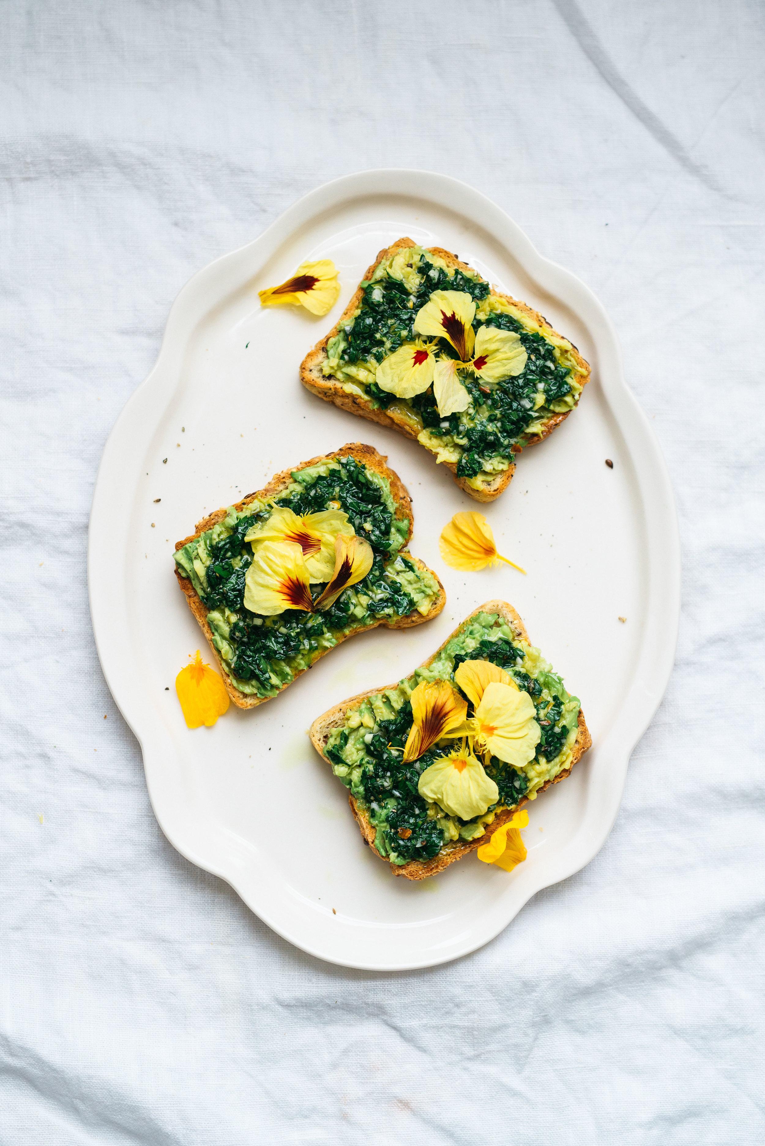 Chimichurri Avocado Toast   Dolly and Oatmeal