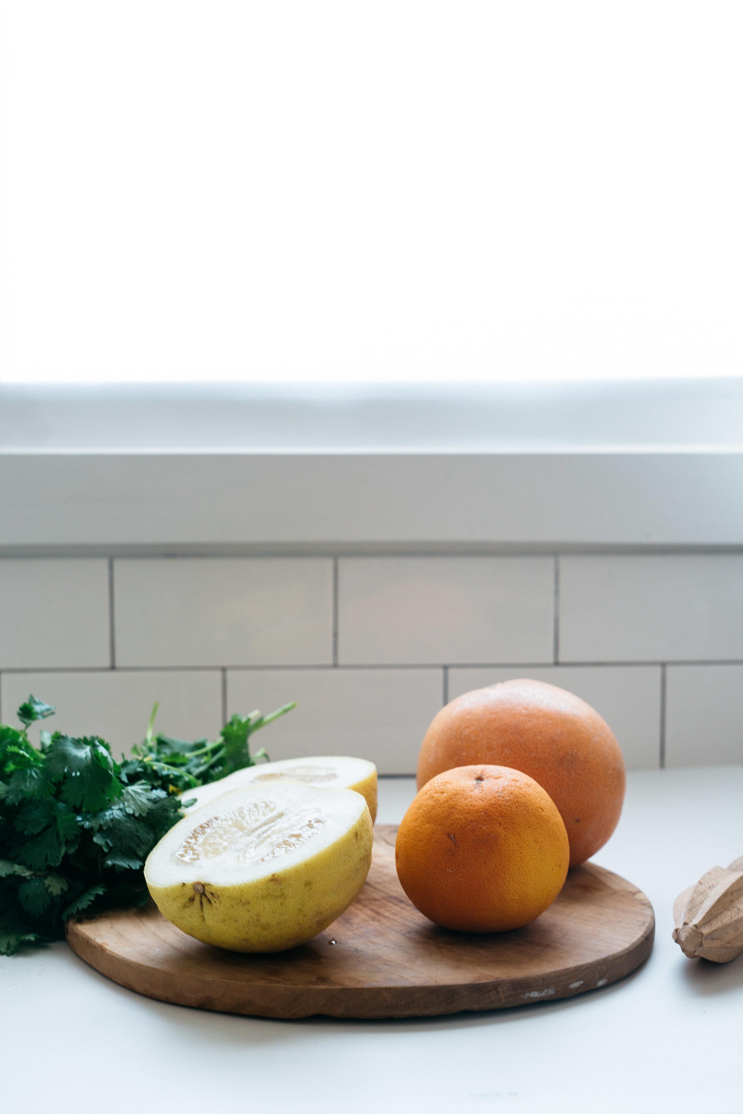 Cilantro-Grapefruit Mezcal Spritz | Dolly and Oatmeal