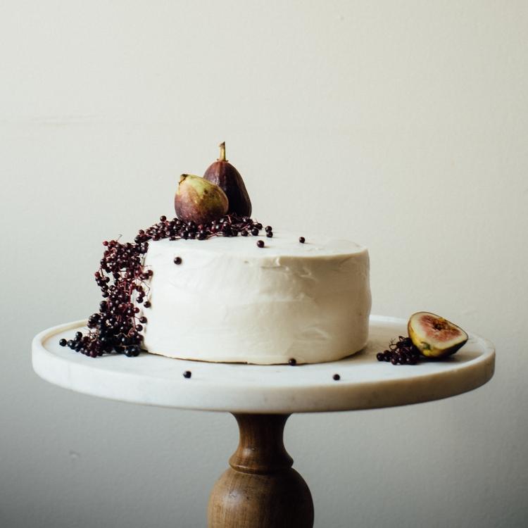 hazelnut layer cake w/ fig compote