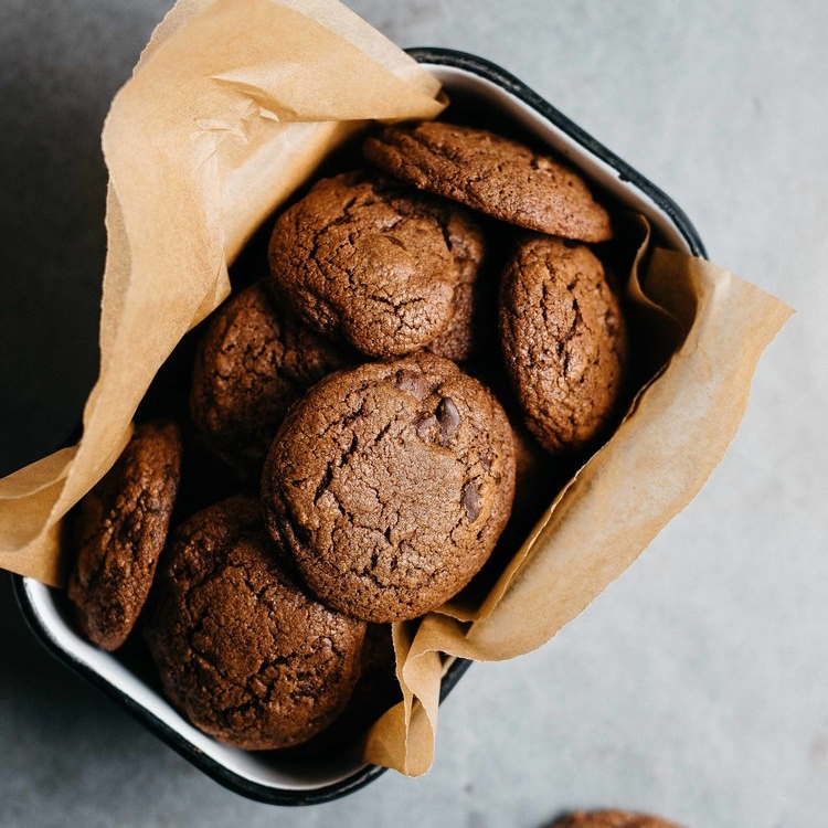 double chocolate gingersnaps