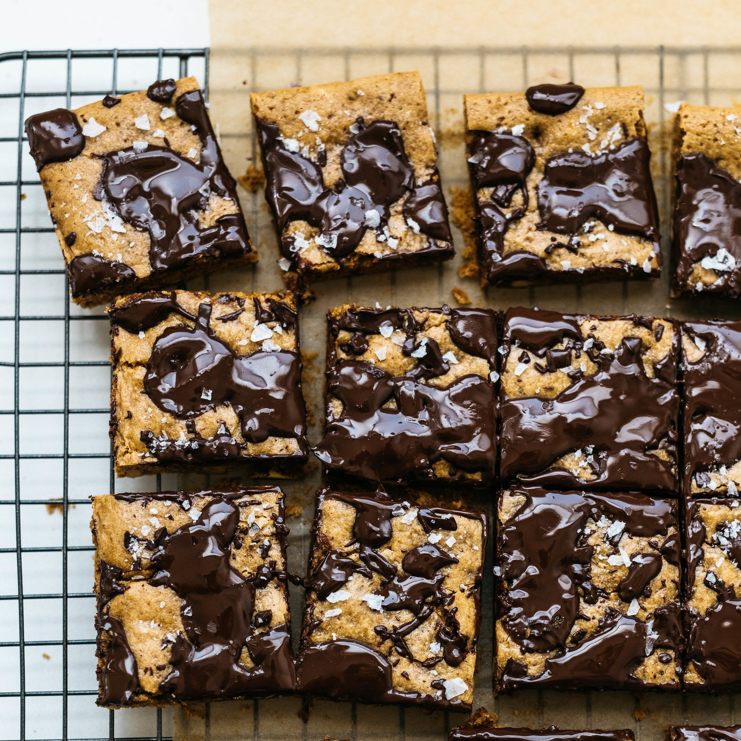 inside -out chocolate chunk cookie bars