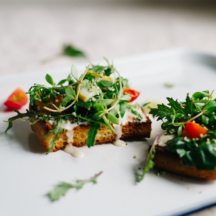 cilantro & hemp toast w/ yogurt-tahini