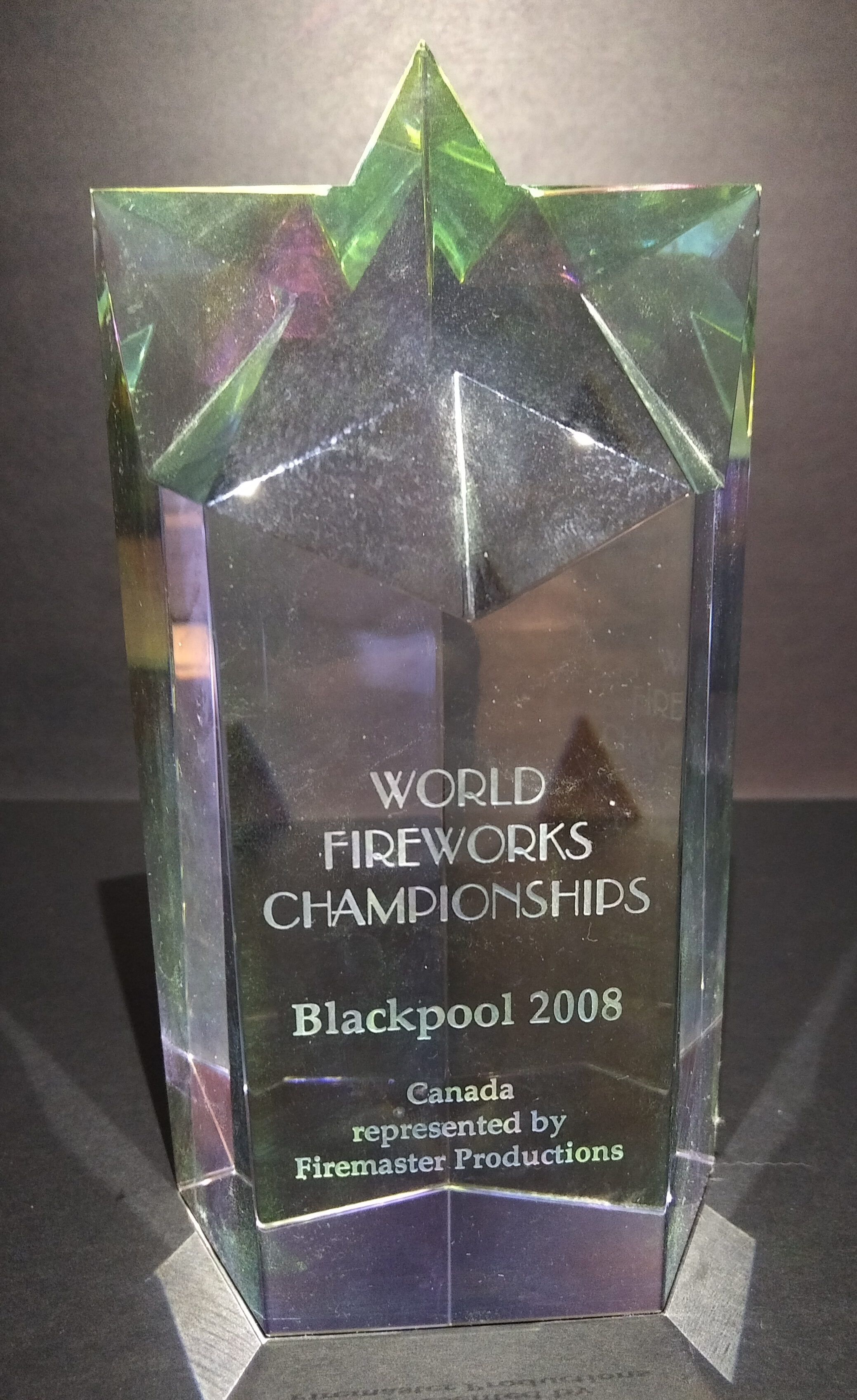2008 Blackpool World Fireworks Championships - Our first international fireworks competition resulted in a second place finish in Blackpool for the World Fireworks Championships.