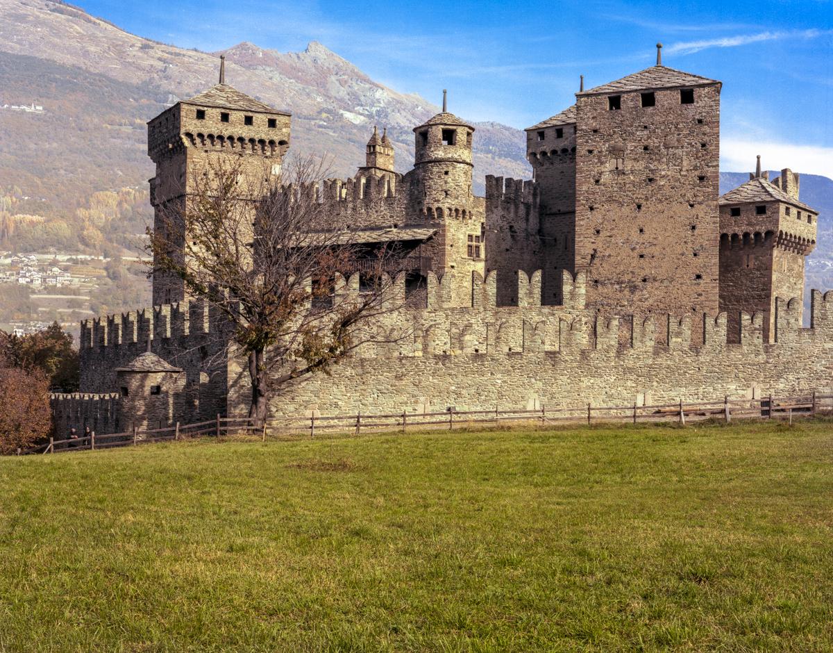 Castello di Fenis (AO)  4x5 Negative -Schineider Symmar 5.6/150 - Portra 160