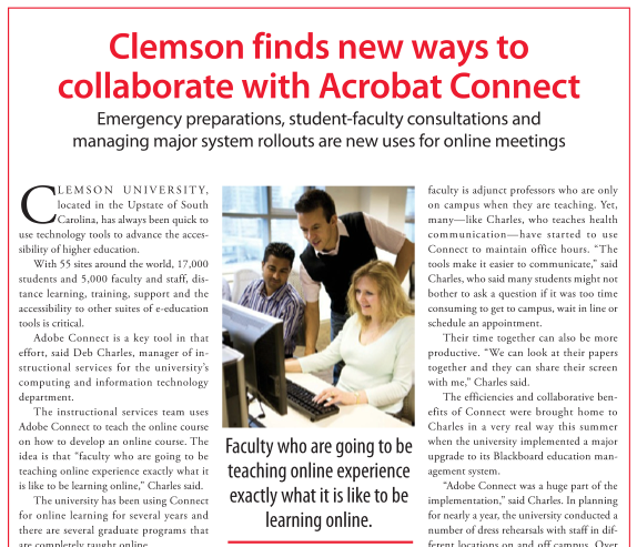 Clemson collaborates with Connect