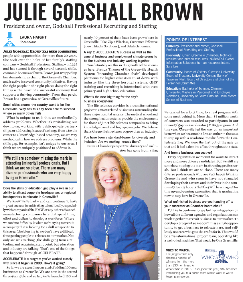 Interview: Julie Godshall Brown