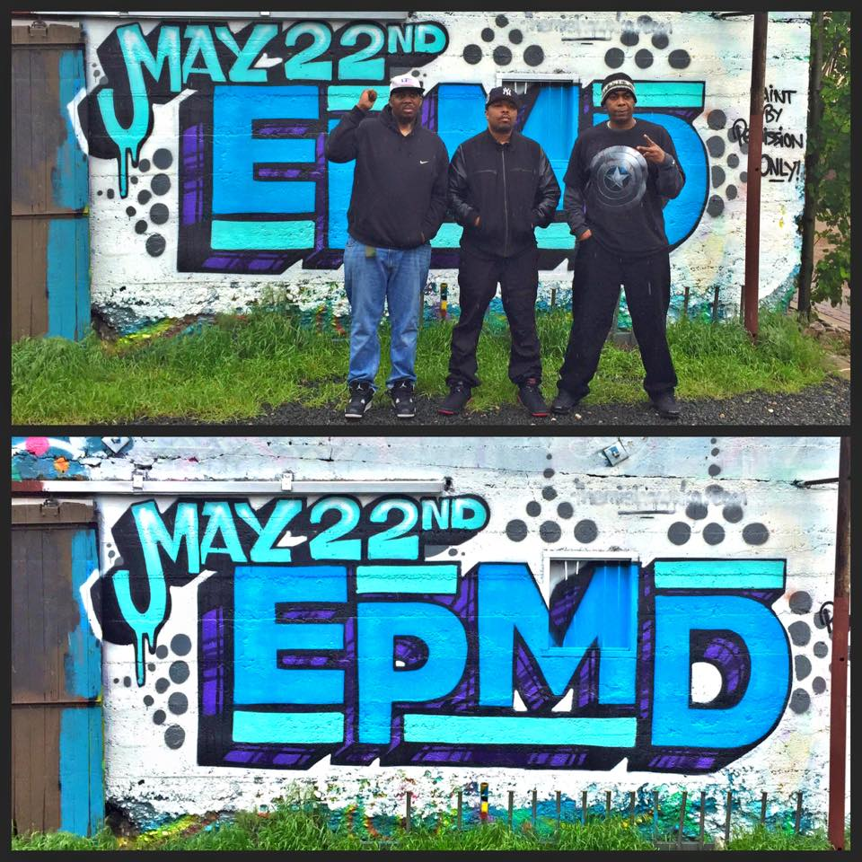 An EPMD mural to promote an EPMD show we were a part of putting on in 2015. The artists themselves requested to have their photo taken in front of the wall. Fort Collins, CO